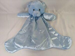 Baby Gund Blue HuggyBuddy Bear Lovey Security Blanket 058889 Stuffed Animal Toy
