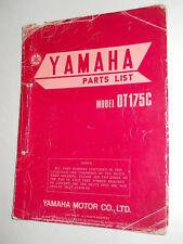 YAMAHA DT175 C  ILLUSTRATED  PARTS LIST CATALOGUE  MANUAL