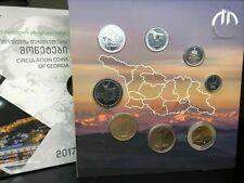 Official UNC Album Set Coins Georgia 2017: 1, 2, 5, 10, 20, 50 Tetri + 1, 2 Lari
