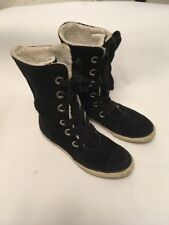 5e0d1f9c5b2388 Converse chuck Taylor ALL STAR black suede hi top sneakers Women s Size 6