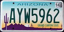"ARIZONA "" GRAND CANYON STATE CACTUS DESERT SCENE "" 2014 AZ Graphic License Plate"