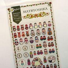 65x Matryoshka Russian Doll Stickers