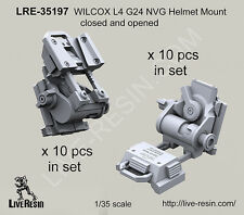 Live Resin 1/35 WILCOX L4 G24 NVG Helmet Mount Closed (10 sets) and Opened