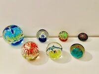 🔴 Collezione fermacarte paperweight vetro di Murano orig. anni 70 Venini Seguso