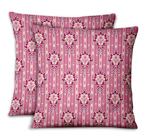 S4Sassy Abstract Home Decor Pillow Case Throw Printed Fabric  2Pcs-DK-4G