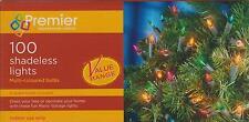 Premier - 100 Christmas Fairy Tree Lights 9.9M Lit Length Multi Coloured Bulbs