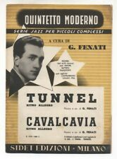 Spartito GIOVANNI FENATI Tunnel - Cavalcavia 1954 Sheet music serie Jazz