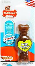 (4 Pack) Nylabone Puppy Ring Bone Chicken Flavor Petite Soft Chew Toy for Dogs