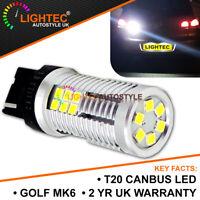 T20 7440 W21W 582 HIGH POWER CANBUS ERROR FREE REVERSE WHITE LED FOR VW GOLF MK6