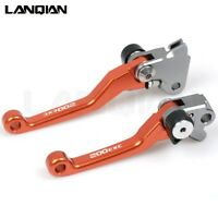 For KTM 200EXC 2005-2008 Orange CNC Aluminium Dirt Bike Pivot Brake Clutch Lever