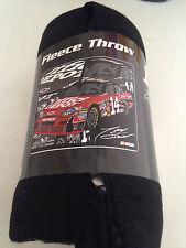 Tony Stewart Office Depot 14 Smoke NASCAR Racing  fleece blanket  throw NEW