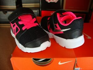 Nike Downshifter (TD) Black Silver Pink Baby Shoes [685164-001]