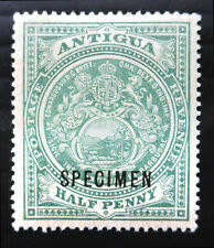 """ANTIGUA 1908 - ½d with """"SPECIMEN"""" OPT Lightly Mounted Mint NB1432"""