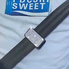 2x Bling Crystal Seatbelt Adjuster Clip Belt Strap Clamp Shoulder Neck Comfort