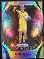 2020-21 Panini Prizm Premier League FIREWORKS David de Gea #21 Manchester United