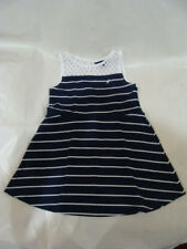 Nautica Girls Dress Cotton Striped Black / White Blend Size 24M