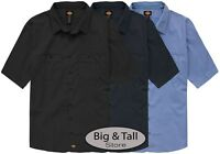 Dickies Big & Tall Men's Ventilated Work Shirt Lightweight 3XL - 7XL 2XLT - 7XLT