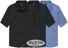 Dickies Big & Tall Men's Ventilated Work Shirt Lightweight 3XL - 7XL 2XLT - 7XLT