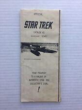 **SUPER RARE** VINTAGE - Official ORIGINAL Star Trek Catalog #1 - 1968