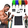 11Pcs Workout Resistance Bands Set Pull Rope with Handles and Door Anchor Home