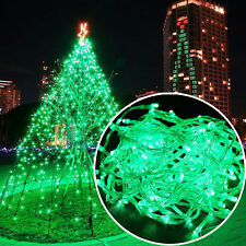 Green 10M 100 LED Garden String Light Wedding Xmas Party Lamp Decoration US Plug