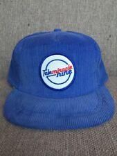 Vtg Kinsmen Telemiracle 1985 Corduroy Snap Back Hat Blue Canada Saskatchewan SK