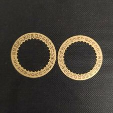 2PCS White/Gold Date Disc for ETA 2824-2 Movement, Day Positon of 3 o'clock
