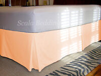 "15"" Drop Pleated Bed Skirt 800 TC Egyptian Cotton Solid Twin/Full/Queen/King"