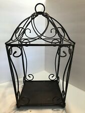 Partylite Large Wrought Iron Candle Holder Display Piece. Euc!