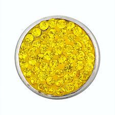 ANDANTE Kristall Druckknopf Click Button CHUNK Citrin Sun Gelb #4222 + GESCHENK