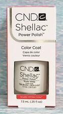 CND SHELLAC UV GEL POWER POLISH ~ STUDIO WHITE 0.25 oz *NIB