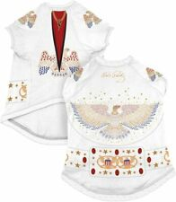 Elvis Presley Pet Dog T-Shirt Jumpsuit Costume Medium
