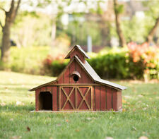 "Glitzhome 20.67"" Oversize Rustic Farmhouse Wooden Barn Birdhouse Decorative Nest"