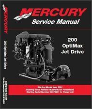 Mercury 200 OptiMax Jet Drive Engine Service Repair Manual CD  -- Opti Max