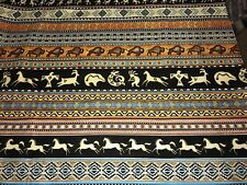 Fabric Southwest Soul Border on Black Cotton by the 1/4 yard BIN