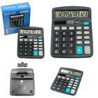 12 Digit Electronic Calculator LARGE Display DESKTOP Home Office School Exam New