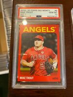 2019-20 Topps 582 Montgomery Set 1 9 Mike Trout [PSA 10]