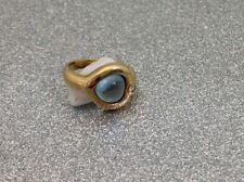 zauberhafter Aquamarin Herzring - 585er Gold - aquamarine heart gold ring