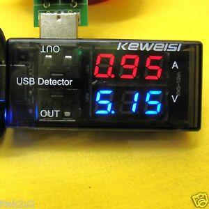 USB LED Charger Doctor Voltage Current Amp Meter Tester Charge Voltmeter Phone N