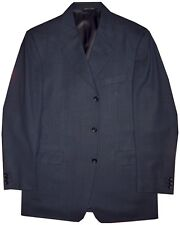 PREOWNED CANALI BLOOMINGDALES BLUE BLACK CHECK SPORTCOAT JACKET EU 50 40R 40 R