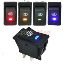 4Pins LED On/Off Indicator Rocker Toggle Switch Driving Fog Lamp Work Light Bar