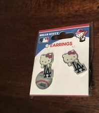 The Los Angeles Dodgers Baseball Hello Kitty Earrings New In Package Free Ship