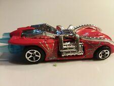 2000 Hot Wheels Arachnorod Spiderman Race Car Red Blue Silver Marvel RARE
