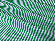 White & Green 5mm Stripes Print 100% Cotton Fabric Material (Per Metre)