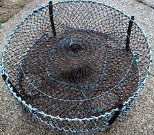 Crab pots 4 HEAVY DUTY pro pots 900x 310 10mm GAL rings 3 funnel entrence nets