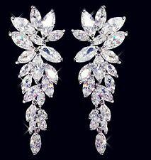 Klassische große Ohrringe, XXL, Luxury Brand, Transparent Strass, NEU