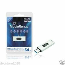 3 MediaRange 64GB 3.0 Chiavetta Chiave Penna Flash Pen USB Pendrive 64 GB MR917