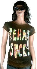 WoW AMPLIFIED REHAB SUCKS Vintage ViP Rock Star Bleached Tunika T-Shirt XS/S 34