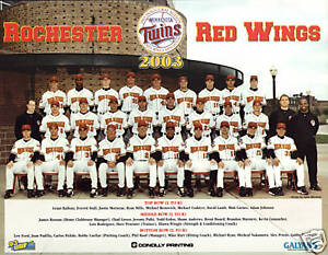2003 Rochester Red Wing team photo picture 8 by X 10 JUSTIN MORNEAU rookie