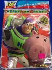 RARE Toy Story 3 Disney Pixar Cartoon Birthday Party Decoration Plastic Banner